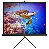 VonHaus 84-inch Tripod Projector Screen - TV/Video/Power Point Presentation Platform - 4:3 Aspect Ratio Projection Screen - Suitable for LED, LCD and DLP Projectors