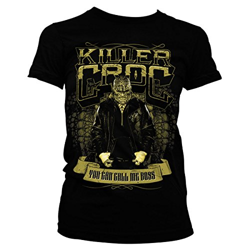 Officially-Licensed-Merchandise-Suicide-Squad-Killer-Croc-Girly-Tee-Black-Medium