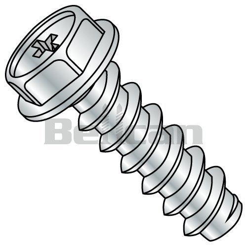 Type 23 Zinc Plated Finish 2 Length Small Parts 37323SW 3//8-16 Thread Size 2 Length Hex Washer Head 3//8-16 Thread Size Slotted Drive Pack of 375 Pack of 375 Steel Thread Cutting Screw