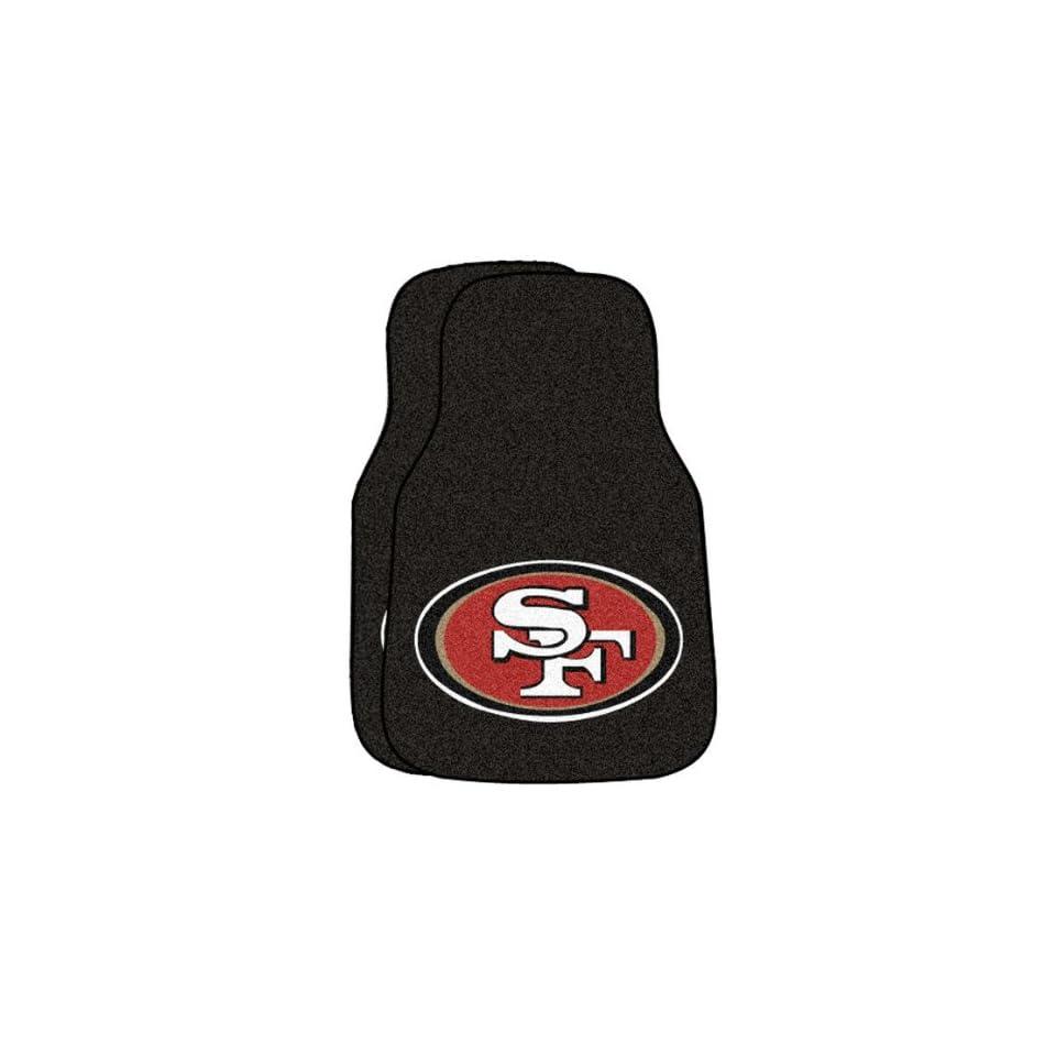 NFL San Francisco 49ers 2 Piece Cromo Jet Printed Floor Car Mat Set