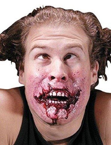 [Popcandy Reel FX Grim Grin Latex Makeup Appliance] (Prosthetic Fx Makeup Halloween Masks)