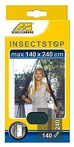 Schellenberg 20509 Fliegengitter für Türen 140 x 240 cm anthrazit