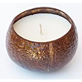 Big 16oz Coconut Scented Soy Candle in Real Coconut Shell - Made with 100% NATURAL SOY WAX, Essential & Natural Oils - 100% NATURAL SOY WAX is Non Toxic, Non GMO, Burns Clean and No Black Soot - Also Great for Aromatherapy, Luau Party & MORE - 100% Satisfaction Guaranteed!