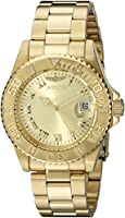 Invicta Pro-Diver Analog Gold Dial Women's Watch - 12820