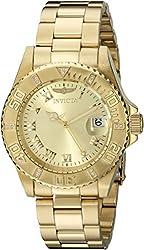 Invicta Women's 12820 Pro Diver Diamond-Accented Gold-Tone Watch