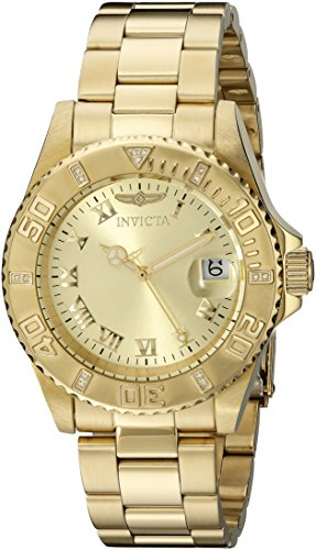 Invicta Pro-Diver Analog Gold Dial Women\'s Watch - 12820