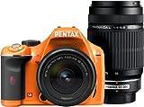 PENTAX デジタル一眼レフカメラ K-x ダブルズームキット オレンジ/ブラック 051