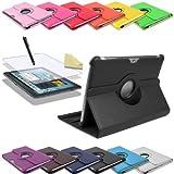 3in1 SET 360° Edle Schutztasche für Samsung Galaxy Tab 2 10.1 P5100 P5110 + Folie + Pen Tasche Etui Hülle (Schwarz)