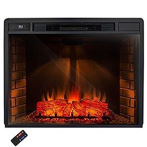 Akdy 33 Freestanding Electric Heater Fireplace Log Set W Remote Control Az Ef05