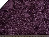 Splenda Satin Ribbon Rosette Plum Fabric