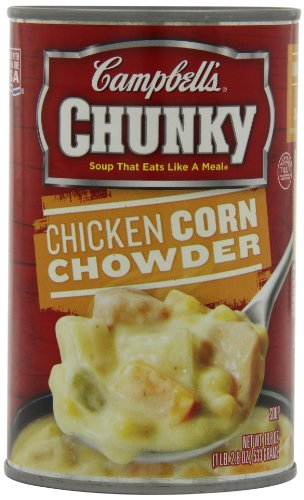 Campbell's Chunky Soup, Chicken Corn Chowder, 18.8 Ounce (Pack of 12) (Chicken And Corn compare prices)