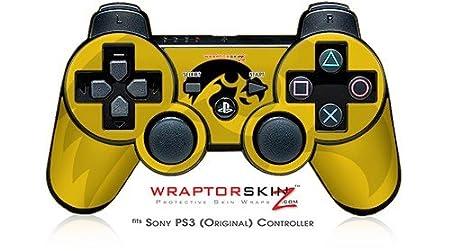 Sony PS3 Controller Skin - Iowa Hawkeyes Herky Black on Gold