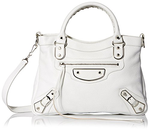Balenciaga-Womens-Leather-Satchel-White
