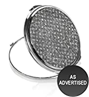 Autograph Compact Diamanté Mirror with Pouch