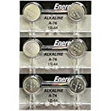 Energizer LR44 1.5V Button Cell Battery, 6 Each