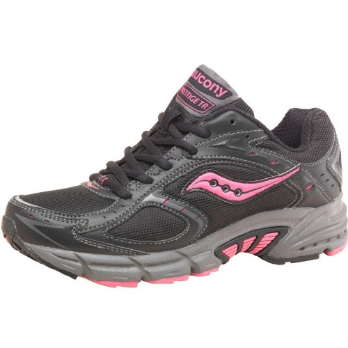 Saucony Womens Grid Prestige Trail Shoes Black/Pink