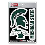 NCAA Michigan State Spartans Team Decal, 3-Pack (Color: Green, Tamaño: Varies)