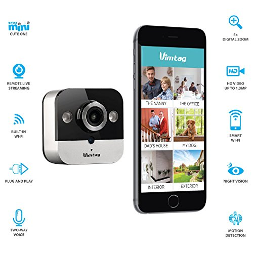 Sale!! Vimtag M1 Mini Cube Security Devices IP Camera, Silver, M1 (M1 Mini Cube)