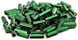 Beaders Paradise LT3BG215 Czech Glass Kelly Green Silver Lined No.3 Bugles in a Tube