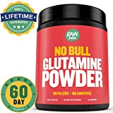 Raw Barrel's - Pure L Glutamine Powder - unflavored - SEE RESULTS OR YOUR MONEY BACK - 300g 60 servings - with *FREE* digital guide