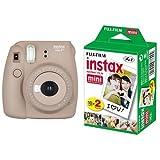 FUJIFILM インスタントカメラ チェキ instax mini8プラス  ココア  + チェキ用フィルム 20枚入 セット