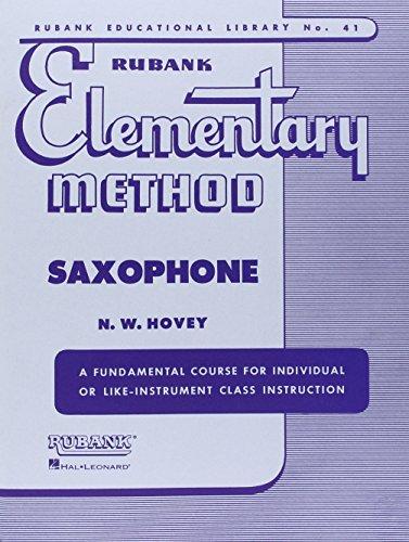 Rubank Elementary Method Saxophone (Rubank Educational Library)
