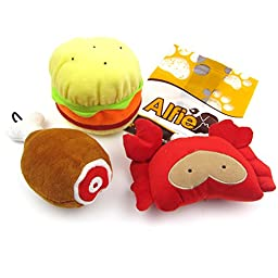 Alfie Pet by Petoga Couture - Jamie Dog Small Plush Toy with Squeaker - Style: Set