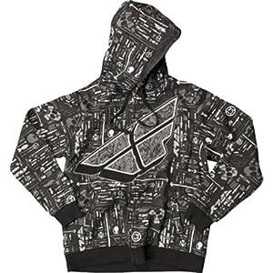 Fly Racing Reverse-A-Billy Men's Hoody Zip Casual Wear Sweatshirt/Sweater - Wild / Large
