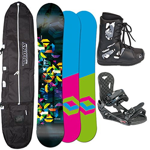2014 FTWO Snowboard SET REVERSE 153 cm + Eco Bindung Gr. L + Boots + Bag