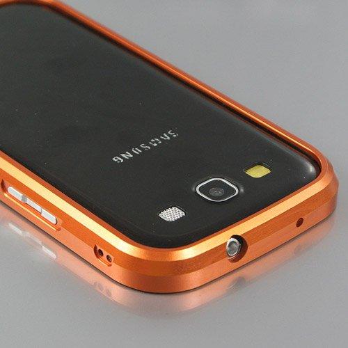 i-Beans【全15色】Docomo+Samsung+Galaxy+S+III+アルミバンパー+SC-06D+高品質ケース+ギャラクシーS3用メタルバンパー++ダークオレンジ++i9300バンパーケース+Galaxy+S3+%2F+SC-06D+Bumper+Case+液晶保護フィルム付+(7476-13)