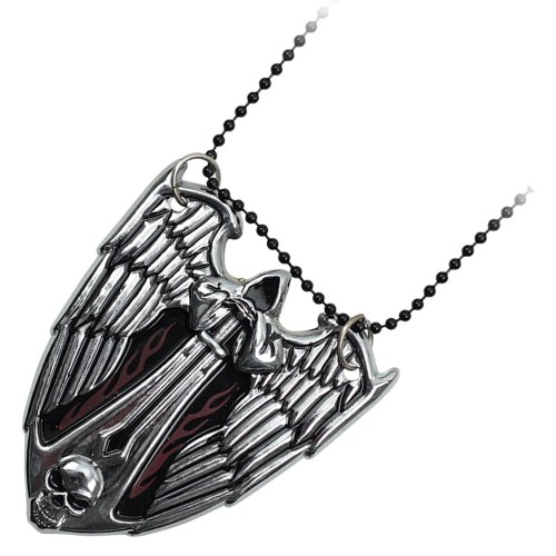 Silver evil angel neck knife with hidden blade and necklace YC8991-SL