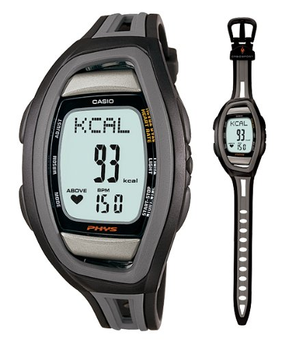 Casio Men's Heart Rate CHF100-1V Black Resin Quartz Watch with Digital Dial