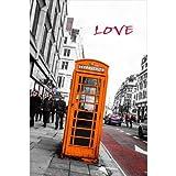 【気持ちを伝えるポストカードのAIR】「LOVE」ロンドンの公衆電話の葉書はがきハガキ photo by MIRO
