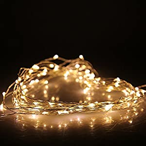 (10M 33FT 100LED, Warm White) DBPOWER Led String Lights Copper Wired LED Starry Light for Outdoor, Gardens, Christmas, Homes, Wedding and Party from DBPOWER