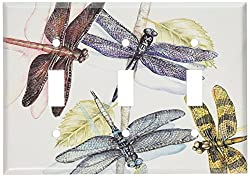 Art Plates - Dragonflies Switch Plate - Single Toggle Triple Toggle