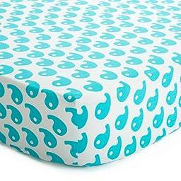 Baby Deedee Fitted Crib Sheet, Dream Blue