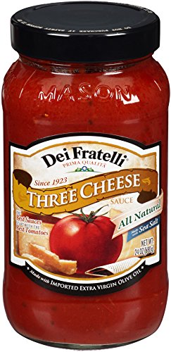 Dei Fratelli - Three Cheese Pasta Sauce gefen classic marinara pasta sauce 26 ounce 12 per case