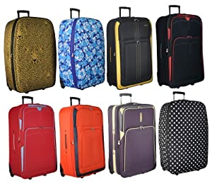 "Frenzy/5 Cities Large 26"" Inch Lightweight Suitcase, Check-in Luggage Wheeled Rolling Bag with 3 Years Warranty!"