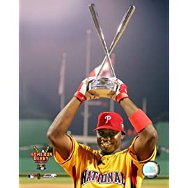 Ryan Howard - 2006 Home Run Derby With Trophy Sports Photo (8 x 10)