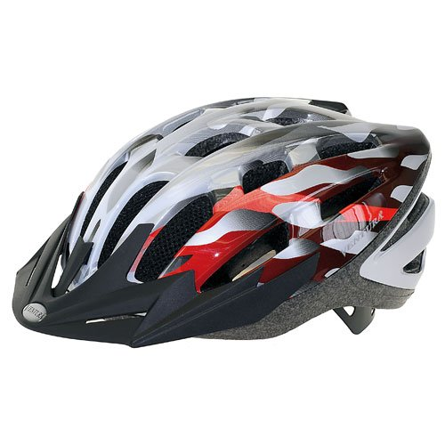 Buy Low Price Ventura In-Mold Reflex Adult Bike Helmet – Red/Silver/White (B003DZ6HZG)