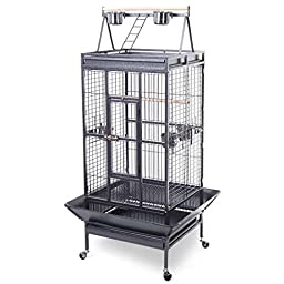 Giantex Bird Cage Large Play Top Parrot Finch Cage Macaw Cockatoo Pet Supplies