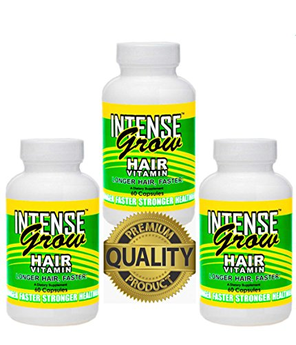 Long Hair Growth Vitamins Intense Grow 3 Pack | LONG HAIRSTYLES