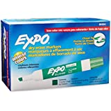 Expo 2 Low-Odor Dry Erase Markers, Chisel Tip, 12-Pack, Green