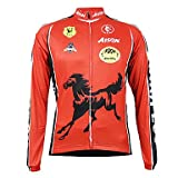 Get Kooplus Quick Dry Men's Long Sleeve Cycling Jersey (Red Horse) , S