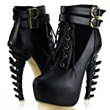 Show-Story-Lace-Up-Buckle-High-top-Bone-High-Heel-Platform-Ankle-BootsLF40601
