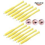 12Pcs F12 Needles Disposable Manual Microblading Eyebrows Tattoo Pen Blade for Semi-permanent Makeup