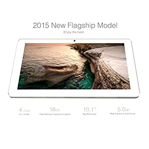 Dragon Touch M10X 10-Inch Quad Core Google Android Tablet PC, 1Gb Ram 16Gb Nand Flash, IPS HD Screen 1366x768 Display, 5.0MP Camera w/ AutoFocus, Bluetooth, HDMI Output, 1 Year Warranty