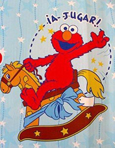 Sesame Street Baby Throw- Rocking Horse Theme Elmo Plush Blanket front-391631