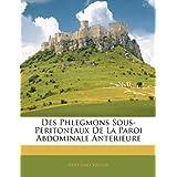 Des Phlegmons Sous-Peritoneaux De La Paroi Abdominale Anterieure (French Edition)
