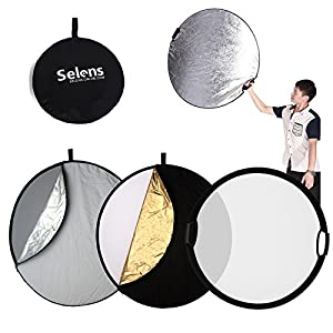 Selens 5-in-1 Reflector with Handle for Photography Photo Studio Lighting & Outdoor Lighting